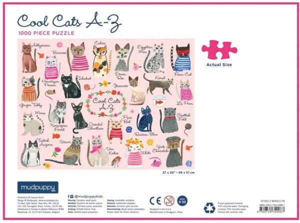 Cool Cats 1000 Piece Puzzle - Mudpuppy