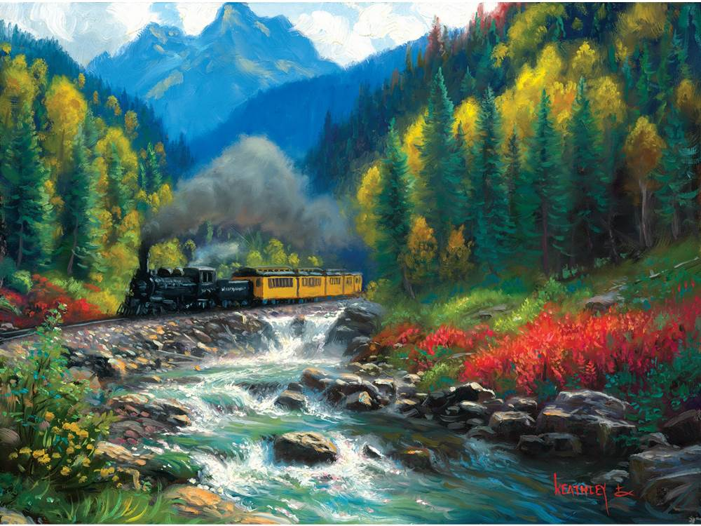 Mats For Cars >> 1000 PIECE JIGSAW PUZZLE BY SUNSOUT - DURANGO SILVERTON