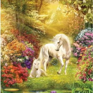 Enchanted Garden Unicorns 500 Piece Jigsaw Puzzle