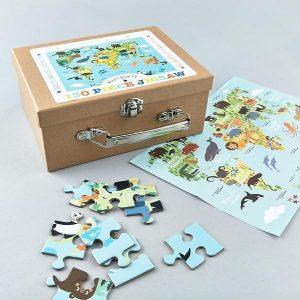 Floss & Rock - World 130 Piece Jigsaw Puzzle