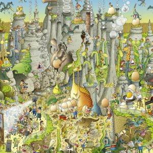 Funky Zoo - Jurassic Habitat 1000 Piece Jigsaw Puzzle