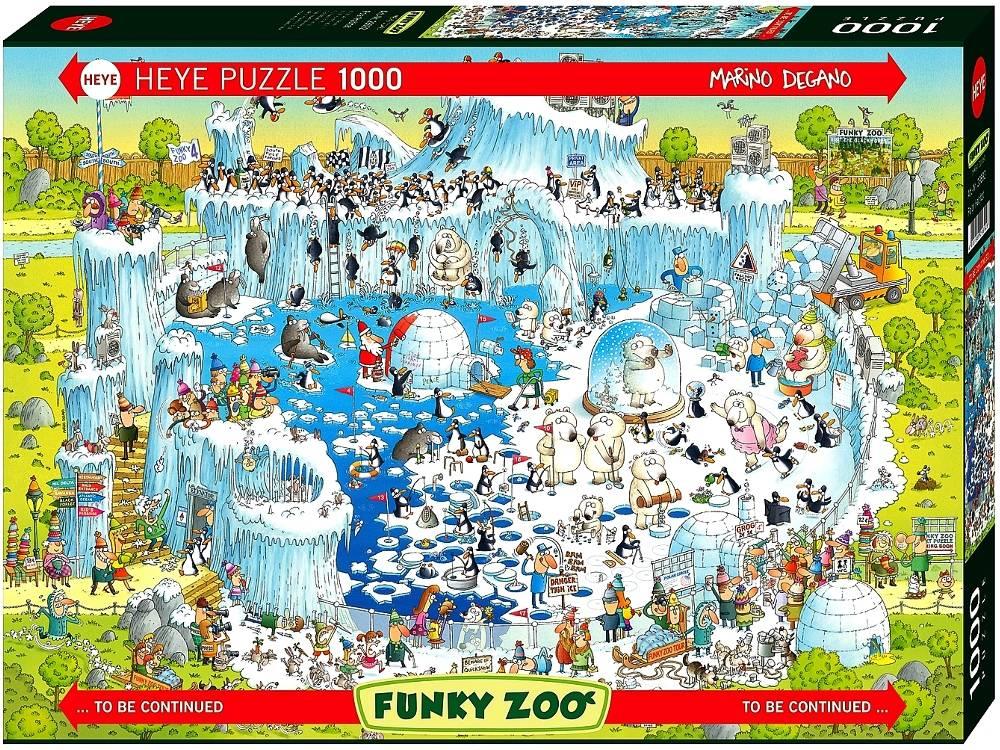 Funky Zoo - Polar Habitat 1000 Piece Jigsaw Puzzle