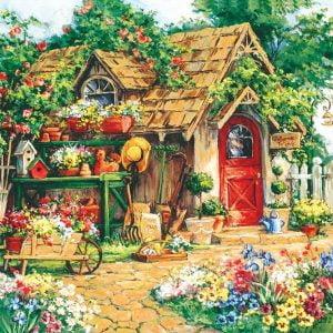 Gardener's Haven 1000+ Larger Piece Sunsout Jigsaw Puzzle