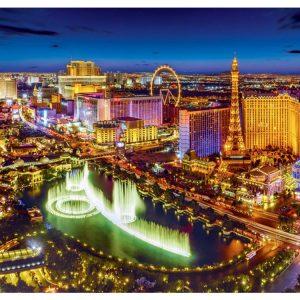 Las Vegas By Night 2000 Piece Jigsaw Puzzle