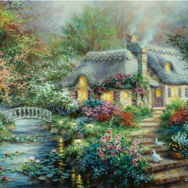 Little River Cottage 1000+ Larger Piece Jigsaw Puzzle