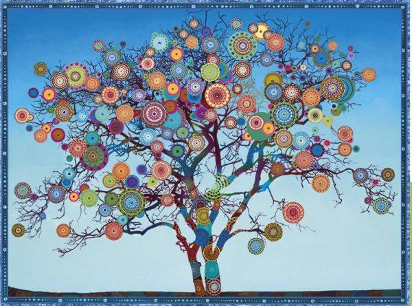 Mandala Fruit Tree 500 large Piece Jigsaw Puzzle