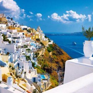 Santorini Greece 1500 PC Jigsaw Puzzle