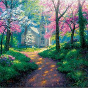 Spring Chapel 1000 Piece Sunsout Jigsaw Puzzle