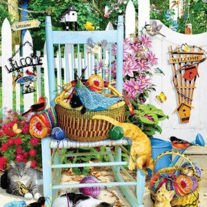 The Knitting Chair 1000 Piece Jigsaw Puzzle