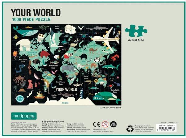 Your World 1000 Piece Jigsaw Puzzle - Mudpuppy