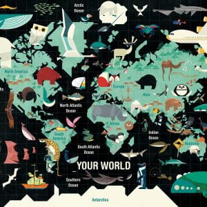 Your World 1000 Piece Mudpuppy Jigsaw Puzzle