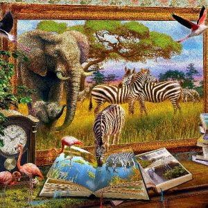 Art to Life - Zebra Waterhole 1000 Piece Puzzle