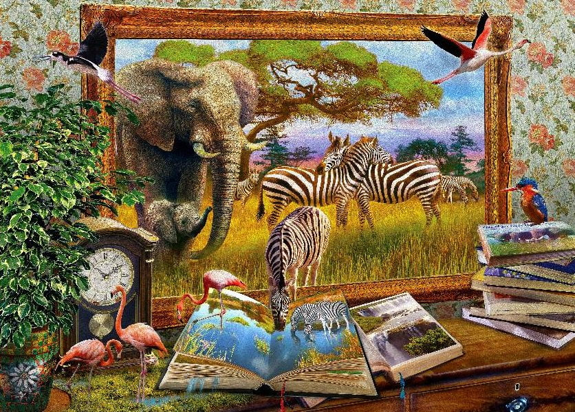 Art To Life Zebra Waterhole 1000 Piece Puzzle From Holdson