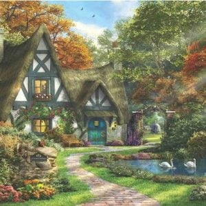 Autumn Cottage 2000 Piece Anatolian Puzzle