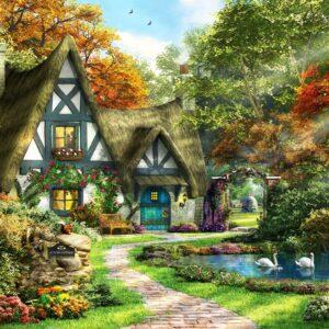Autumn Cottage 2000 Piece Puzzle - Anatolian