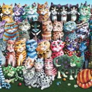 Cat Family Reunion 1000 Piece Anatolian Puzzle