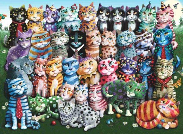Cat Family Reunion 1000 Piece Anatolian Puzzle
