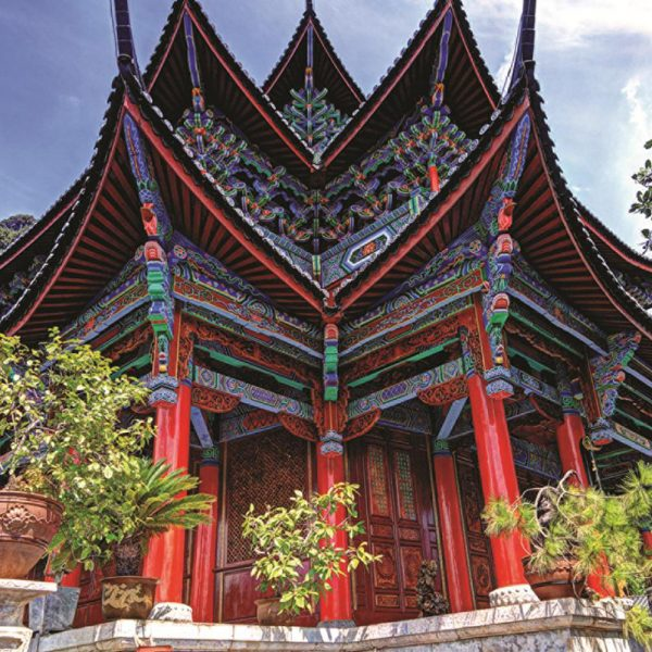 Chinese Temple 1500 Piece Jumbo Jigsaw Puzzle