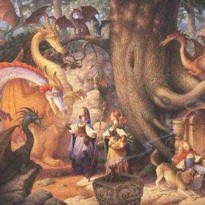 Confabulation of Dragons 500 Piece Puzzle
