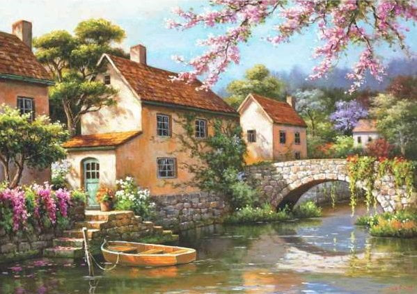 Country Village Canal 1500 Piece Anatolian Puzzle