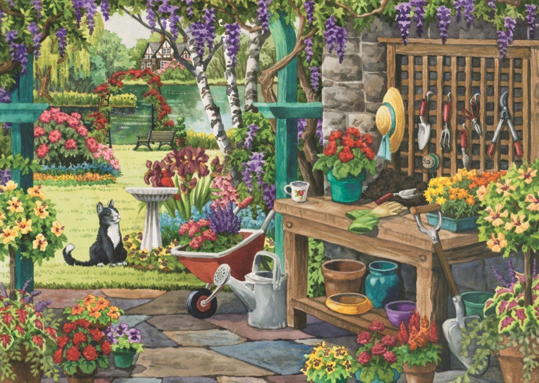 garden in bloom 200 xl piece puzzle