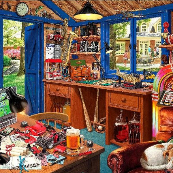 Hobby Sheds II – A Man Cave 500 XL Piece Puzzle