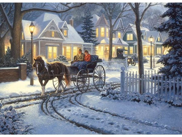 Horse Drawn Buggy 1000 Piece Cobble Hill Puzzle
