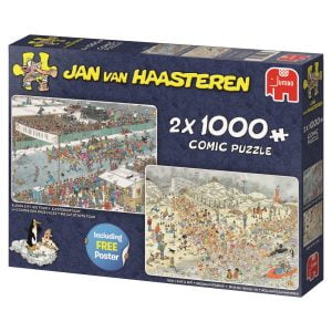 Jan Van Haasteren - Winter Fun 2 x 1000 Piece Jigsaw Puzzle - Jumbo