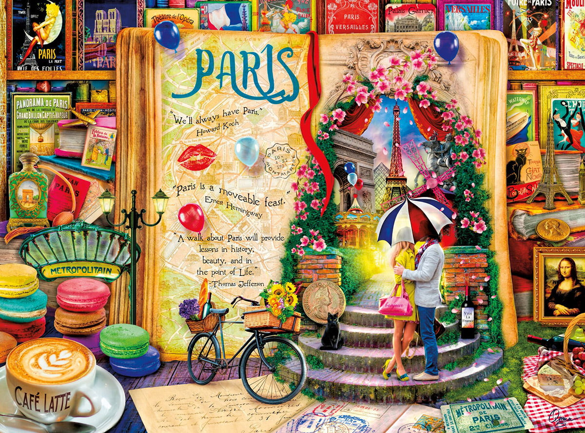 life is an open book paris 1000 piece holdson puzzle. Black Bedroom Furniture Sets. Home Design Ideas