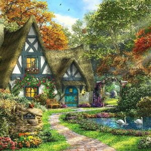Picture Perfect III - Autumn Cottage 1000 Piece Puzzle