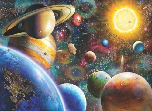 Planets in Space 1000 Piece Anatolian Puzzle
