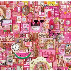 Rainbow Project - Pink - 1000 Piece Cobble Hill Puzzle