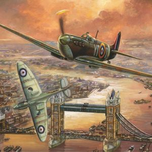 Spitfire Over London 1000 Piece Jigsaw Puzzle