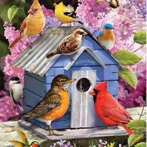 Spring Birdhouse 1000 Piece Cobble Hill Puzzle