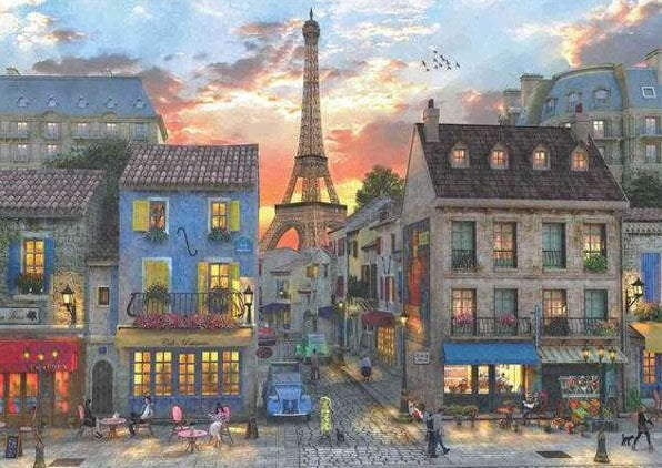 streets of paris 3000 piece anatolian jigsaw puzzle. Black Bedroom Furniture Sets. Home Design Ideas
