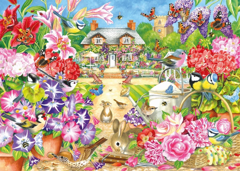 summer garden 1000 piece falcon de luxe jigsaw puzzle