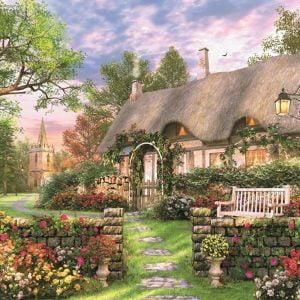 Sunny Cottage 1500 Piece Jumbo Jigsaw Puzzle