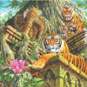 Temple Tigers 1000 Piece Anatolian Puzzle