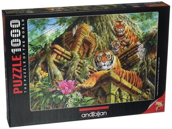 Temple Tigers 1000 Piece Puzzle - Anatolian