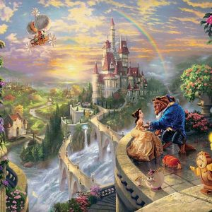 Thomas Kinkade Beauty & The Beast 750 Piece Puzzle