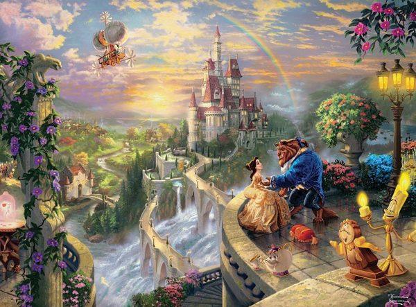 Thomas Kinkade Beauty & The Beast 750 Piece Puzzle