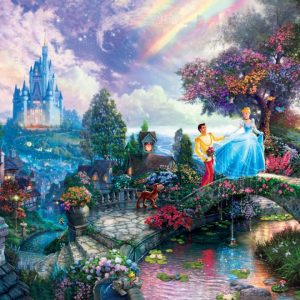 Thomas Kinkade Cinderella Wishes Upon a Dream 750 Piece Puzzle