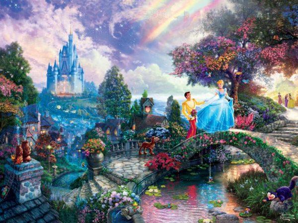 Thomas Kinkade Cinderella Wishes Upon a Dream 750 Piece Puzzle