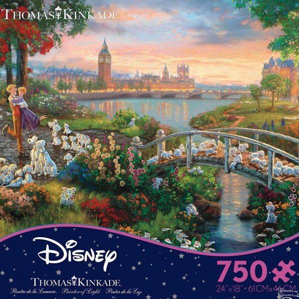 Thomas Kinkade Disney Dreams 101 Dalmations Ceaco 750 Piece Puzzle