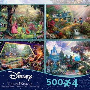 Thomas Kinkade Disney Dreams 4 x 500 Piece Jigsaw Puzzle