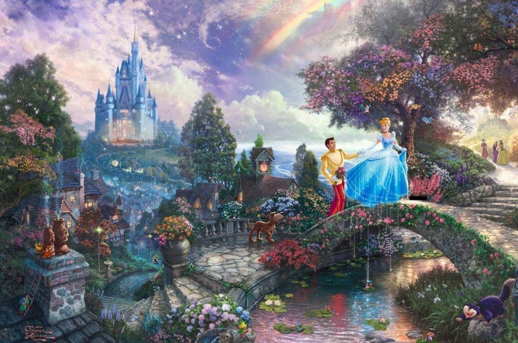 Thomas Kinkade Disney Dreams 4 X 500 Piece Puzzles