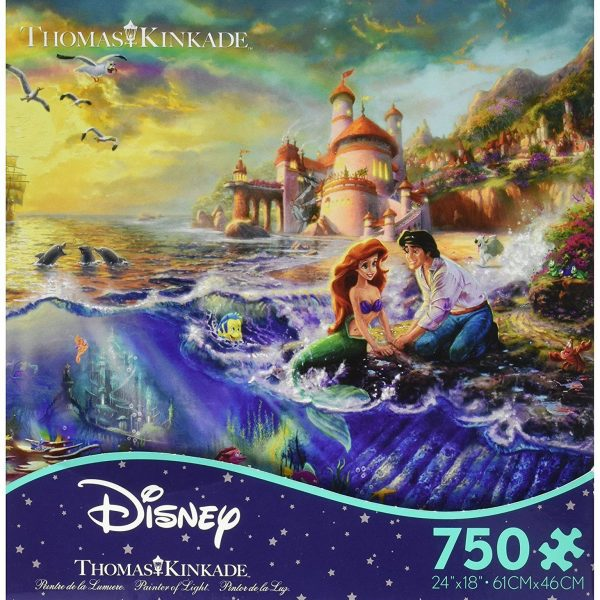 Thomas Kinkade Disney Dreams – The Little Mermaid 750 Piece Puzzle