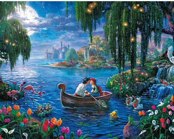 Thomas Kinkade Disney the Little Mermaid 300 PC Puzzle