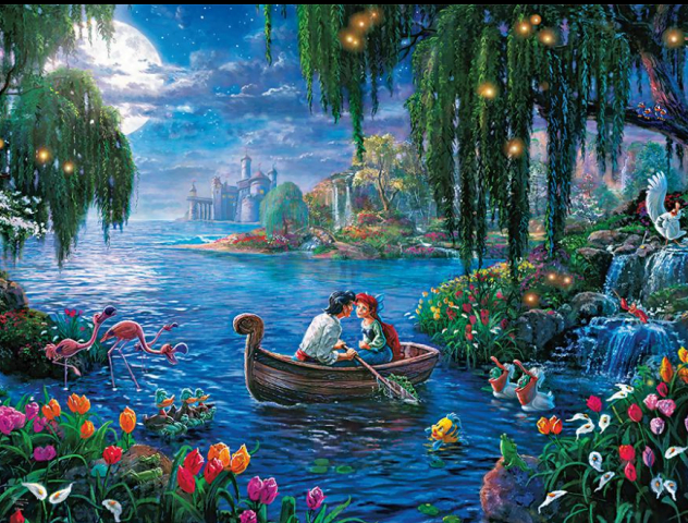 Thomas Kinkade Disney The Little Mermaid Ii 300 Piece Puzzle