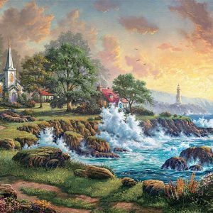 Thomas Kinkade - Seaside Haven 2000 Piece Puzzle